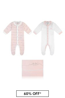 Boys Cotton Logo Babygrow Set