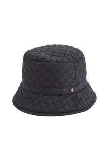 Black Quilted Bucket Hat