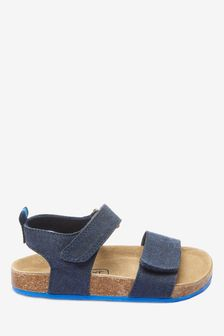 Navy Corkbed Sandals (Younger)