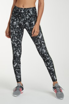 Black Camo Print Technical Leggings