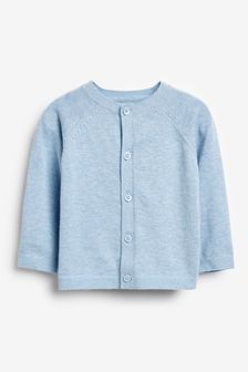 Blue Marl Lightweight Knitted Cardigan (0mths-3yrs)