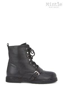 Mintie by Mint Velvet Black Star Stud Boots