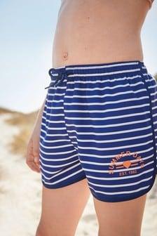 Navy/White Stripe Shorts