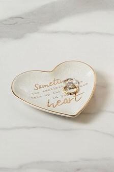 Heart Slogan Trinket Dish