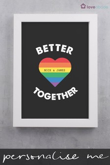 Personalised Better Together Print by Loveabode