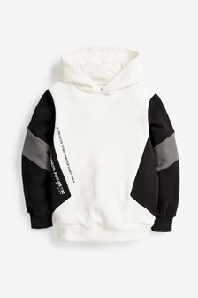 White Side Colourblock Hoody (3-16yrs)