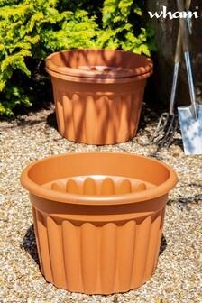 Set of 3 Vista 60cm Round Garden Planters by Wham
