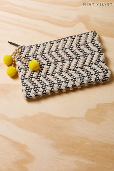 Mint Velvet Natural Serena Woven Clutch Bag