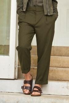 Khaki Emma Willis Straight Leg Trousers