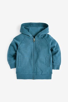 Mid Blue Lightweight Zip Through Hoody (3mths-7yrs)