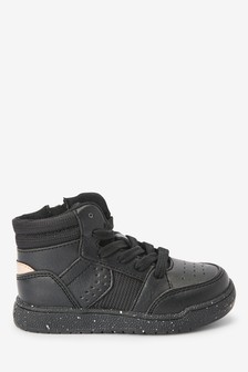 Black/Gold High Top Trainers (Younger)