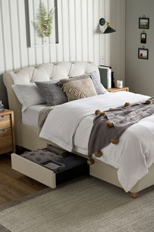 Soft Texture Light Natural Hartford Two Drawer Bed