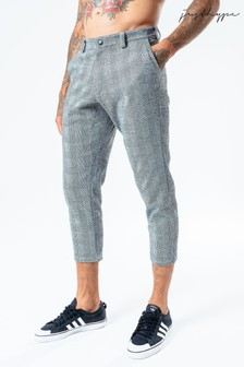 Hype. Mens Grey Pow Crop Trousers