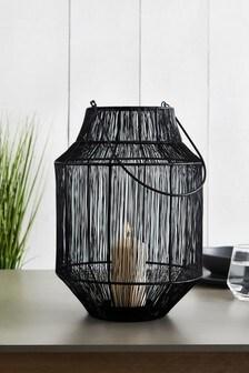Black Wire Lantern
