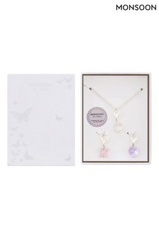 Monsoon Changeable Necklace Gift Set With Swarovski® Crystals