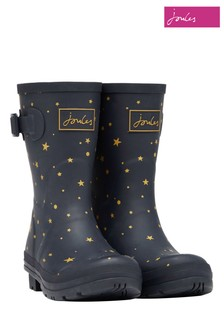 Joules Blue Molly Mid Height Printed Wellies