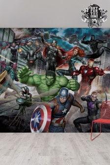 Marvel Avengers Assemble Mural by Art For The Home