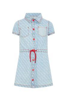 Marc Jacobs Girls Blue Cotton Dress