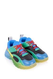 Boys Multicoloured Colourblock Trainers