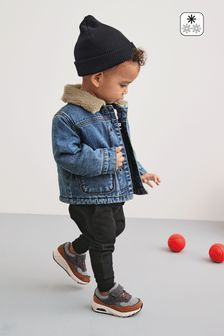 Denim Blue Borg Lined Jacket (3mths-7yrs)