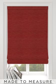 Jasper Cherry Red Made To Measure Roman Blind
