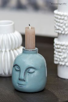 Bloomingville Green Stoneware Candlestick