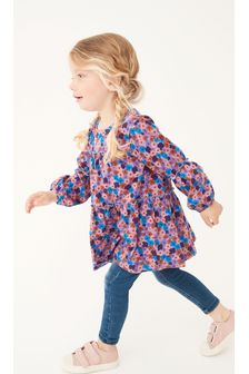 Purple Floral Tiered Tunic Top (3mths-7yrs)