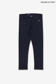 Polarn O. Pyret Blue Organic Cotton Leggings
