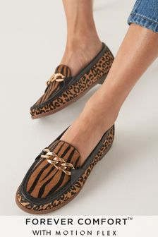 Animal Print Forever Comfort® With Motion Flex Moccasin Shoes