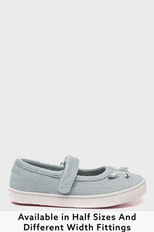 Denim Unicorn Standard Fit (F) Canvas Mary Jane Shoes