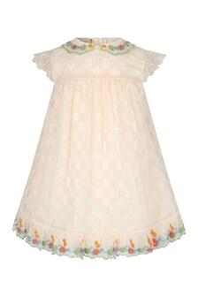 GUCCI Kids Baby Girls Cream Dress