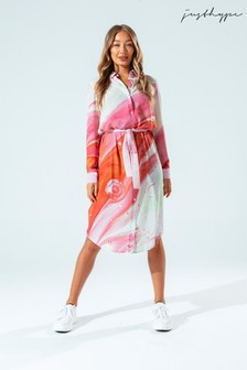 Hype. Womens Multi Marble Brick Shirt Dress
