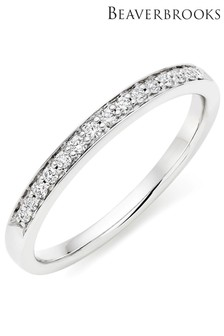 Beaverbrooks Platinum Diamond Half Eternity Ring