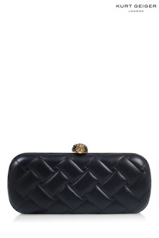 Kurt Geiger London Black Kensington Oval Clutch Bag