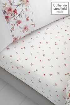 Jasmine Floral Fitted Sheet by Catherine Lansfield