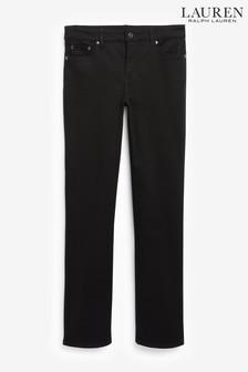 Lauren Ralph Lauren Black Straight Fit Ankle Grazer Jeans