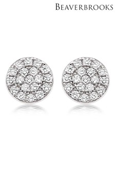 Beaverbrooks Silver Cubic Zirconia Stud Earrings