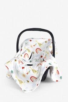 Bright Animal Kingdom Car Seat Blanket