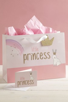 Little Princess Bag, Card And Tissue Set