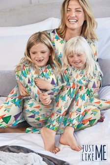 Multi Matching Mother & Me Kids Christmas Trees Pyjamas (9mths-16yrs)
