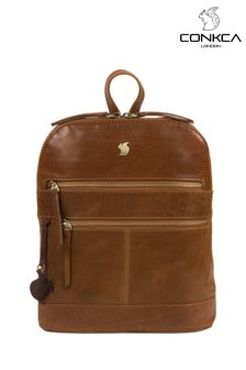 Conkca Tan Francisca Leather Backpack