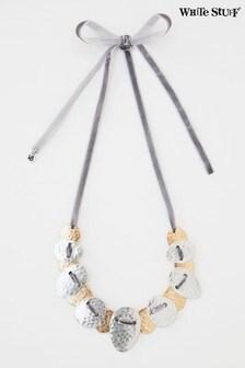 White Stuff Metallic Threaded Velvet Collar Necklace