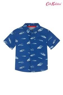 Cath Kidston® Blue Spaced Summer Boat Kids Shirt