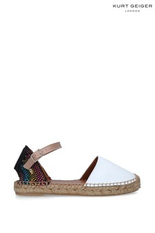 Kurt Geiger London White Manty Rainbow Shoes