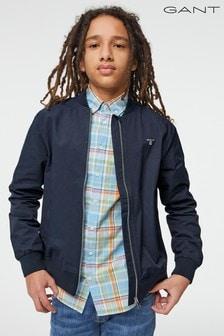 GANT Blue Teen Boys Ribbed Jacket