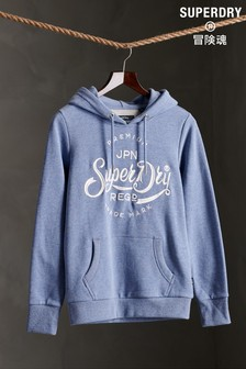 Superdry Premium Script Embroidered Loopback Hoody