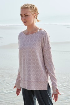 Mauve Cosy Layer Top