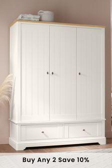 Chalk Hampton Triple Wardrobe
