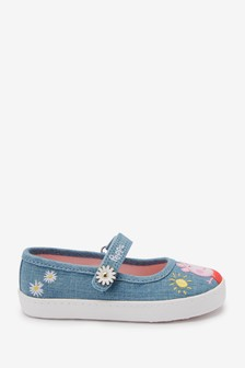 Peppa Pig Standard Fit (F) Canvas Mary Jane Shoes