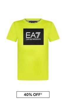 Boys Yellow Cotton T-Shirt